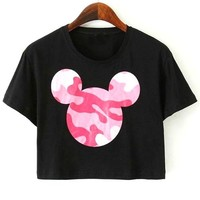 Cartoon Cropped Tee