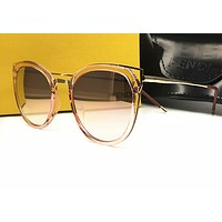 Fendi 0194S DDB Gold Copper 0194S Round Sunglasses Lens Category 3 Lens Mirrore