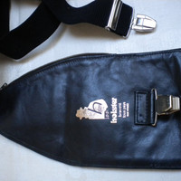 MEN'S LEATHER HOLSTER, Made in France by Brevete, hidden body holster for international travel safety.