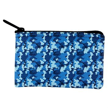 Navy Blue Camo Coin Purse