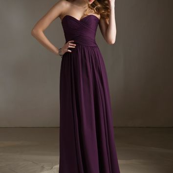 Chiffon Bridesmaid Dress with Sweetheart Neckline | Style 20411 | Morilee
