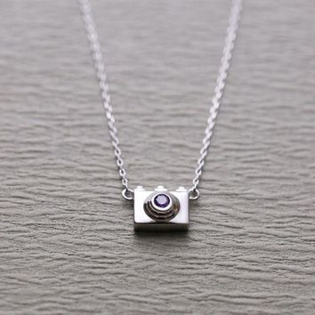 ONETOW New necklace fashion camera necklace chain chain silver jewelry