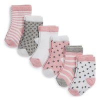 Infant Girl's Nordstrom Baby Crew Socks - Pink (6-Pack)