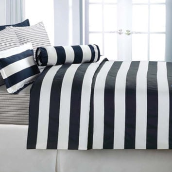 Cabana Stripe Cotton Sateen 3-piece Duvet Cover Set
