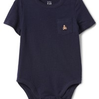 Brannan Bear Pocket Bodysuit|gap