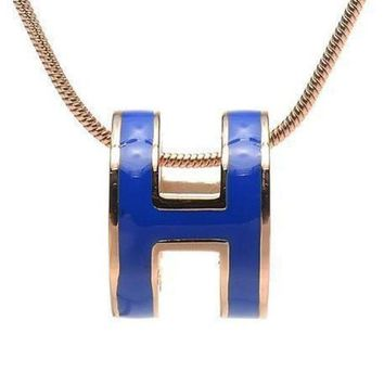 DCCKNQ2 Hermes Woman Fashion Logo Plated Necklace For Best Gift-4