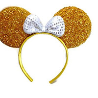 Mickey Mouse Minnie Mouse Ears Headband Sparking : M1 (Gold)