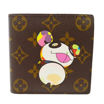 AUTHENTIC LOUIS VUITTON MONOGRAM PANDA TAKASHI MURAKAMI WALLET M61666 JT06261