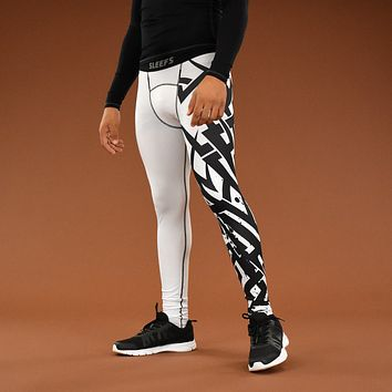 White Tribal Tights for men