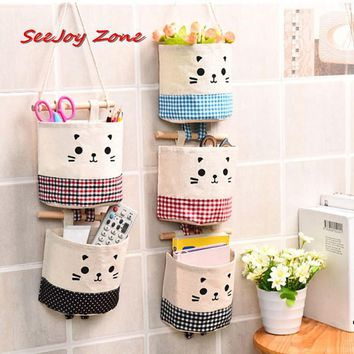 Wall Mounted Storage Bag Organizer Holder Wardrobe Wall Hanging Pouch Cosmetic Makeup Jewelry Toys Pockets