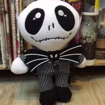 """High Quality 10"""" 25 CM Nightmare Before Christmas Jack Skeleton five nights at freddy Toy Stuffed Dolls Animals plush doll"""