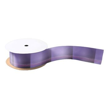 Purple Lights Satin Ribbon