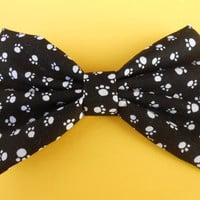 White Puppy Paws Hair Bow, Girls Hairbow #208