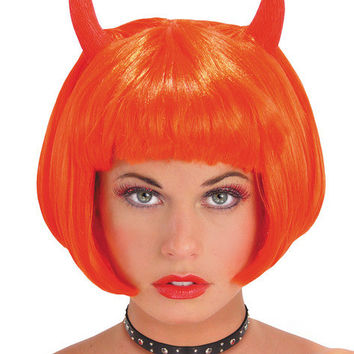 Costume Accessory: Wig Devil Red with Horns