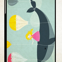Whale Balloons WALLPAPER Y0440 iPad 2 3 4, iPad Mini 1 2 3, iPad Air 1 2 , Galaxy Tab 1 2 3, Galaxy Note 8.0 Cases