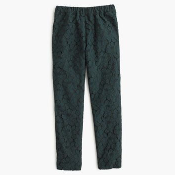 J.Crew Womens Pull-On Pant In Floral Lace