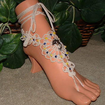 Dolphin, Jewelry, Barefoot Sandals, Beach, Foot, Crochet, Accessories, Anklet, Ankle Bracelets, Bracelets