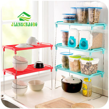 Multi Use Superposition Snap Type Multilayer Shelf Reinforcement Thickened Foldable Kitchen Sundry Storage Rack