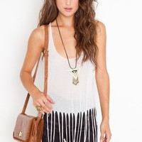 Sheer Fringe Tank - White in Clothes at Nasty Gal
