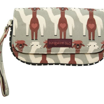 Bungalow360 Vegan Wristlet New Alpaca Design