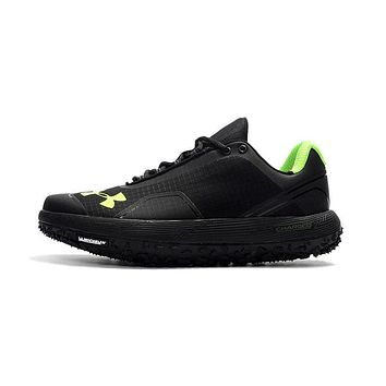 Under Armour Michelin UA Fat Tire Men Running Shoes Black Green