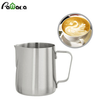 Stainless Steel Coffee Pitcher Milk Frothing Pitcher Pull Flower Cup Cappuccino Cooking Tools Latte Art Milk Frothing Jug