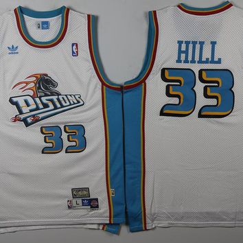 Best Deal Online Mitchell & Ness Hardwood Classics NBA Basketball Jerseys Detroit Pistons #33 Grant Hill White