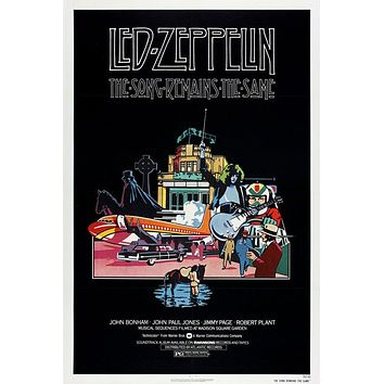 Vintage Led Zeppelin The Song Remains the Same Movie Poster//Classic Movie Poster//Movie Poster//Poster Reprint//Home Decor/Wall Decor