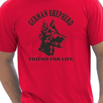 German Shepherd Friend For Life Dog T-Shirt - Men's Tops