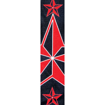 "Planet Waves 50H13 2"" Polyester Red & Black Stars Design Guitar Strap"