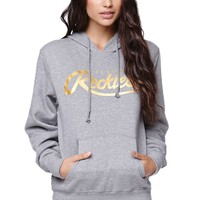 Young & Reckless Script Foil Pullover Hoodie - Womens Hoodie - Black