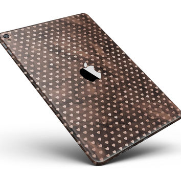 "Tiny Chocolate Watercolor Hearts Full Body Skin for the iPad Pro (12.9"" or 9.7"" available)"