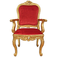 Italian 18th Century Louis XV Period Giltwood Desk Chair