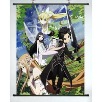 "Coocool® Lifelike Decor Wall Scroll Inspired By Anime Sword Art Online(24""*32"")(support Customization)"