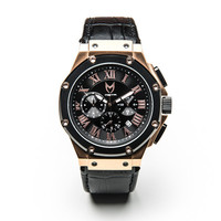 Meister Ambassador AM139CB Rose Gold and Black Crocodile Watch