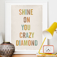 Typography Positive Quote print Lyrics Print poster by handz