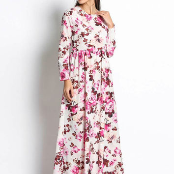 Oh' Floral Daisy Maxi Dress