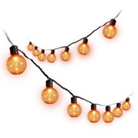 Halloween 35Ct UL Transparent Pet G40 Lights, Orange 35pk - Walmart.com