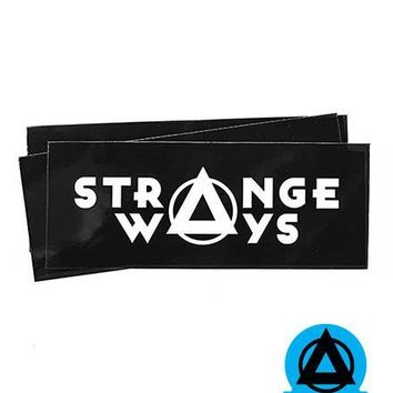 Strange Ways Rectangle Logo Sticker (Set of 3)