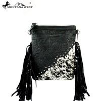 BLACK AND WHITE COWHIDE CROSSBODY SMALL