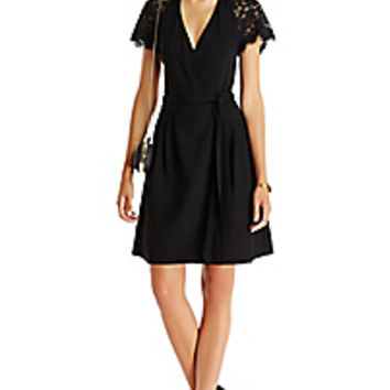 DVF Elizabeth Lace Wrap Dress