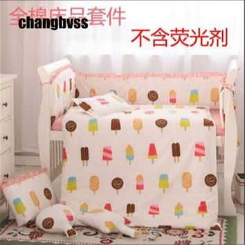 Bedding Set Baby 100% cotton Baby Bedding Set for Toddler Bed Linens for Girl Boy Cotton Comforter