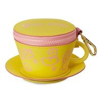 Disney Parks Alice in Wonderland Yellow Tea Cup Pouch New with Tags