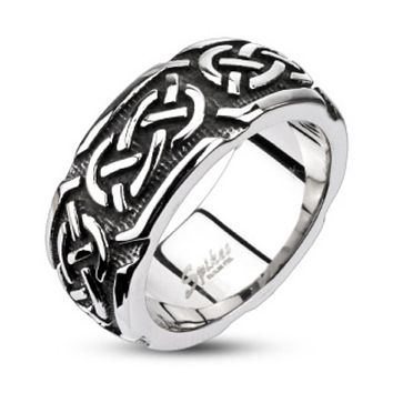 Continuous Celtic Cast Band Ring 316L Stainless Steel