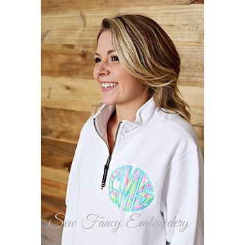 Lilly Pulitzer Monogrammed Charles River Quartzip
