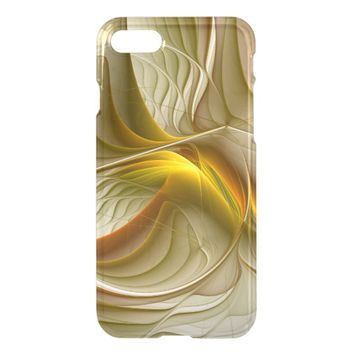 Colors of Precious Metals, Abstract Fractal Art iPhone 7 Case