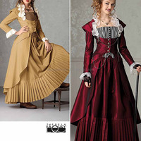 Victorian Dress Pattern, Corset, Skirt Pattern, Simplicity 2172 6 to 12