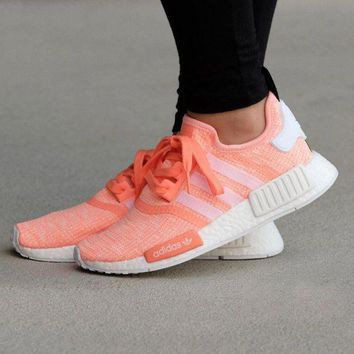 LMFUX5 Adidas WMNS NMD R1 Sunglow/Footwear White Boost Sport Running Shoes Classic Casual Shoes Sneakers