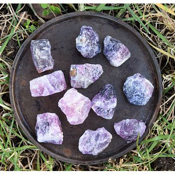 PURPLE FLUORITE Raw Crystal Chunk - Crown Chakra - Natural Rough Purple Fluorite