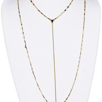 NECKLACE / DOUBLE LAYERED / CHAIN / LINK / 16 INCH LONG / 10 INCH DROP / NICKEL AND LEAD COMPLIANT